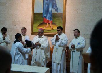 Campeche, MX: Poświęcenie kaplicy w liceum 2011