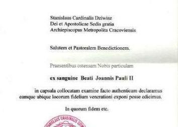 Trzebinia: Intronizacja relikwii bł. Jana Pawła II 2011